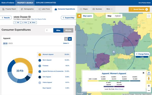 GIS Planning ZoomProspector online GIS data tool