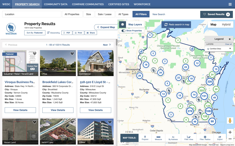 Wisconsin Economic Development Corporation ZoomProspector